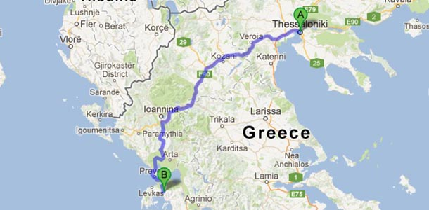 By car from Thessaloniki