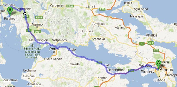 By car from Athens