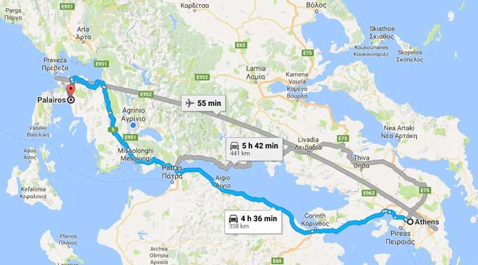 Paleros Travel - Reach Paleros from Athens