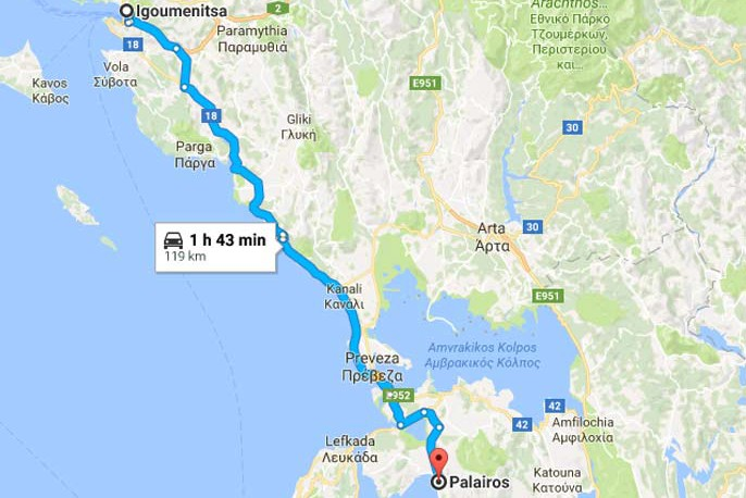 Paleros Travel - Reach Paleros from Igoumenitsa
