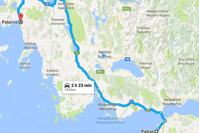 Paleros Travel - Reach Paleros from Patras